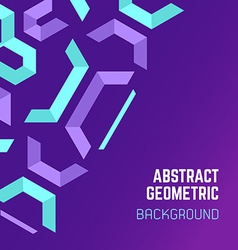 violet purple blue abstract geometric background vector image