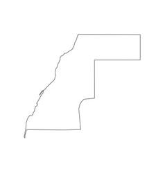 western sahara map vector image vector image