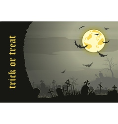 Abstract Halloween night background vector image