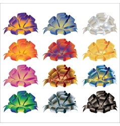 Big set of gift bows with ribbons vector image vector image