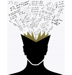 Education icons back to school human head book vector image