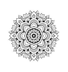mandala floral decorative element vector image