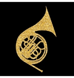 Musical Instrument Horn which is Used in Symphony vector image