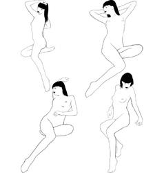 Nude Girl Posing vector image vector image