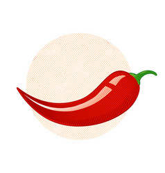 retro of a chili peppers vector image
