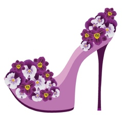 Shoes from flowers vector image