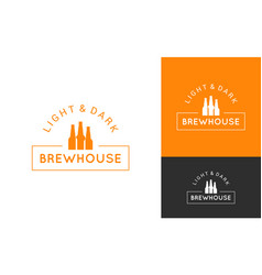 beer logo set design background vector image