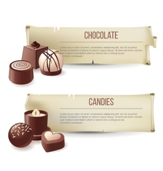Chocolate candies banners vector image
