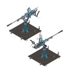 defense air gun isometric war pakistan day vector image vector image