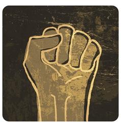 fist grunge icon vector image