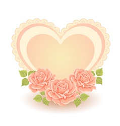 Heart shape with roses vector image vector image
