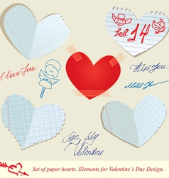 hearts paper 3 380 vector image vector image
