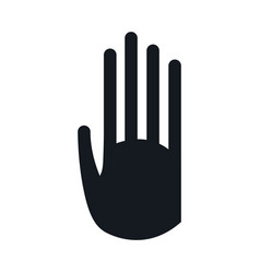 pictogram hand stop signal image vector image
