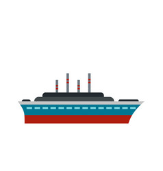 ship icon flat style vector image