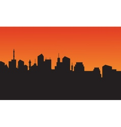 Silhouette of city skyline vector image vector image
