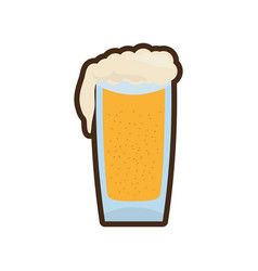 cartoon glass cold beer image vector image