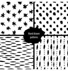 hand drawn seamless patterns collection vector image vector image