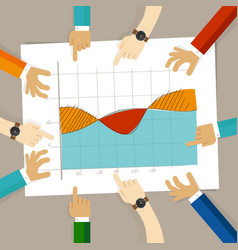 line area overlapping chart hand drawing sketch vector image vector image