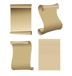 Old paper set vector