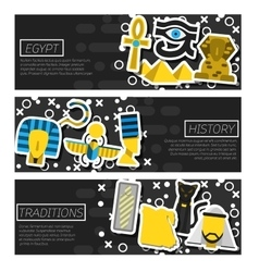 Set of Horizontal Banners about Egypt vector image