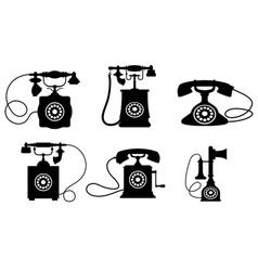 Vintage Telephone Set vector image vector image