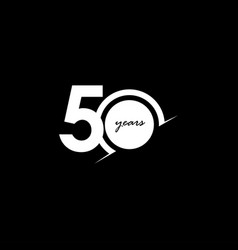 50 years anniversary celebration number white vector