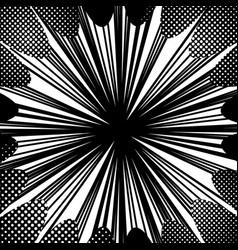 Abstract comic monochrome burst concept vector