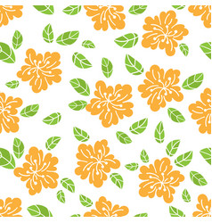 Abstract flower fabric seamless pattern ill vector