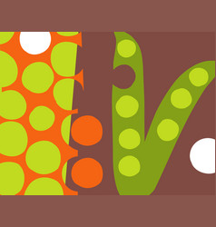 abstract pea pod vegetable design vector image