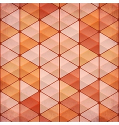 Abstract triangles vintage orange background vector image vector image