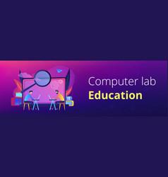 academic laboratory header banner vector image