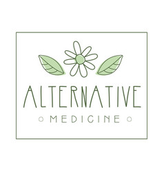 Alternative medicine logo symbol vector