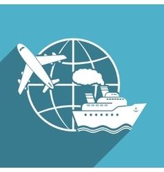 around world icon vector image