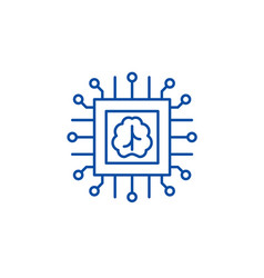 artificial intelligence technologies line icon vector image
