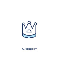 Authority concept 2 colored icon simple line vector