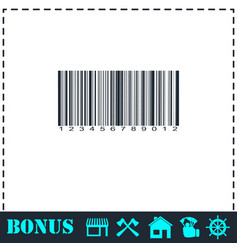 barcode icon flat vector image