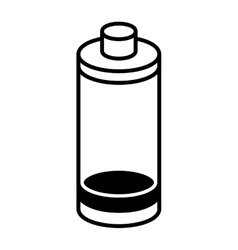 Battery low level isolated icon vector