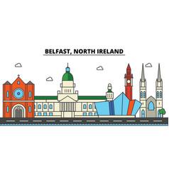 Belfast north ireland city skyline architecture vector