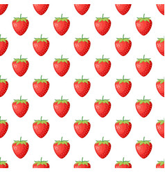 berries strawberry with leaves seamless pattern vector image