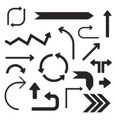 Black arrows set simple signs vector