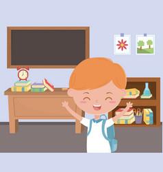 boy kid school design vector image