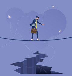 Business overcoming difficulties vector