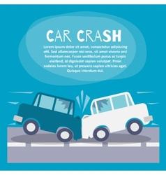 Car crash poster vector