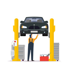 car service and repair vector image