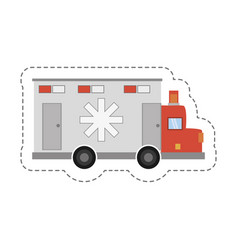 cartoon ambulance transport emergency icon vector image
