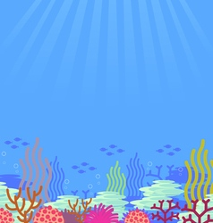 cartoon undersea vector image