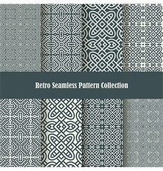 celtic knot ornament seamless patterns vector image