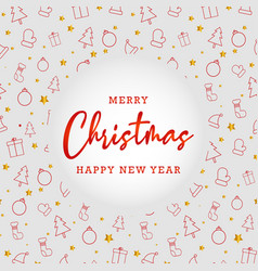 christmas background pattern with greeting text vector image