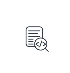 code review icon on white linear vector image