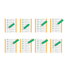 Color pencil checking on to do list sprite sheet vector